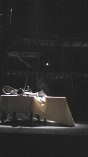 TPT ベニサンピット 本日の座席からの眺め。幕間。