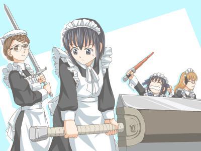 武装メイド2人(+1人)