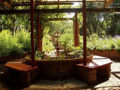 centre of garden
