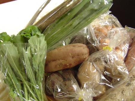自然栽培で作られたお米や野菜