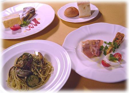 ラ・ミア・ヴィータのコース料理