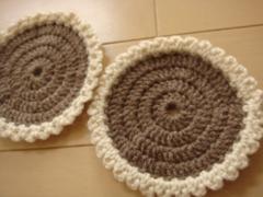 毛糸コースター