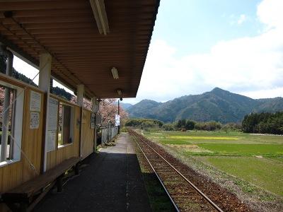 20120414_無人駅の桜2