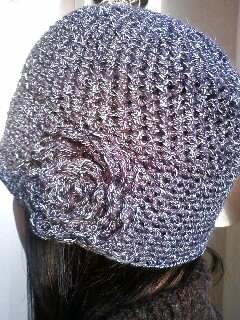 グレー帽子