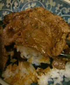山椒の牛肉丼14