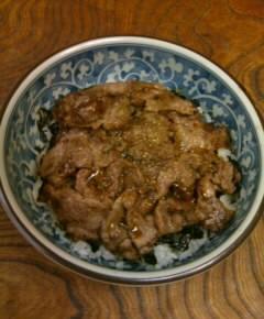 山椒の牛肉丼12