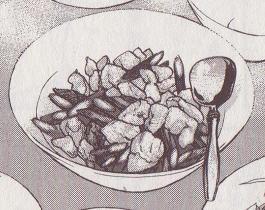 鶏肉とアスパラの中華風塩炒め図