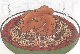 イタリア風ソーセージスパ鍋図