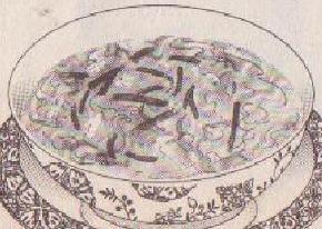 ニラと卵のスープ図