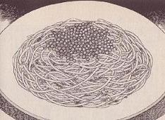 生ウニとイクラのスパゲティ図