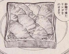 リンゴトースト図