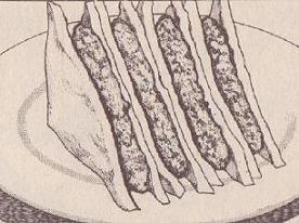 挽き肉と豆腐のサンドイッチ図