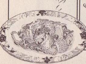 イカとセロリの紅花炒め図