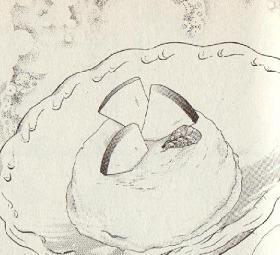 りんごのアイスクリーム図