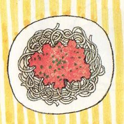 スパゲティ・ミートソース図