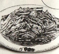 豚肉とアスパラガスの炒め物図