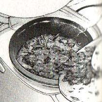 鮭とごぼうの炊き込みご飯図