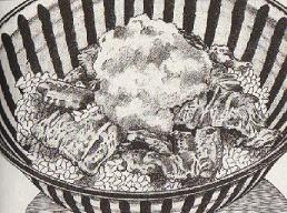 豚のバラ肉丼図
