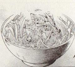 豆腐の親子丼図
