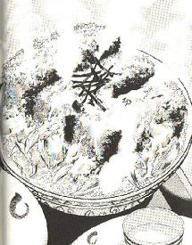 カツオの中おちカツ丼図