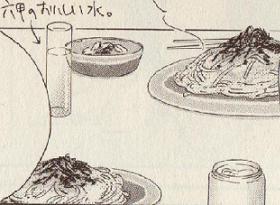 明太子スパゲティ図