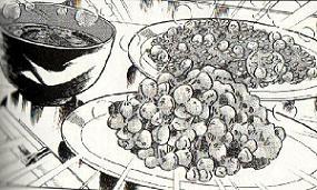和風の納豆料理図