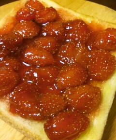 いちごジャムのトースト11