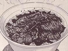 山椒の牛肉丼図