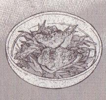 鶏肉のオーブン焼き図