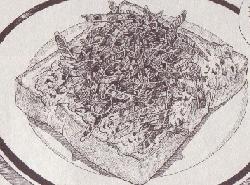 アサツキの卵焼きトースト図