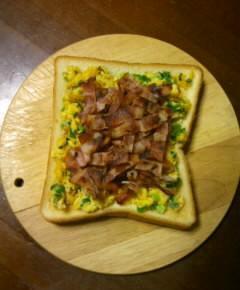 アサツキの卵焼きトースト7