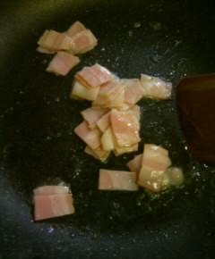 バター風味のベーコン・クレソンスパゲティ3