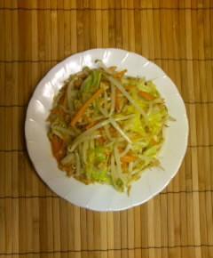 天カス野菜炒め8