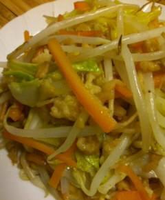天カス野菜炒め9