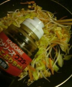 天カス野菜炒め7