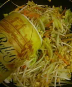 天カス野菜炒め6