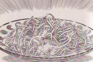 簡単お夜食の皿そば図