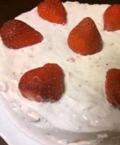 いちごのレアチーズケーキ16