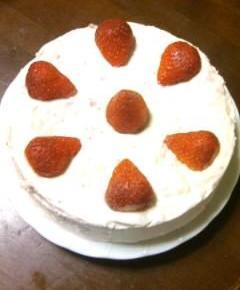いちごのレアチーズケーキ15