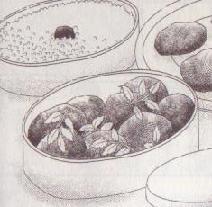 赤味噌ハンバーグのお弁当図