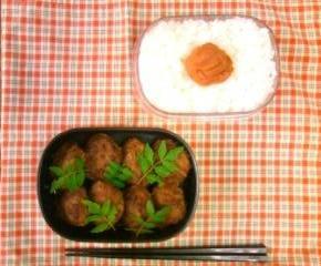 赤味噌ハンバーグのお弁当9