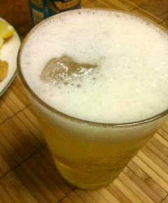 夏のとんかつとカチ割りビール8