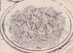 イカの塩辛スパゲティ図