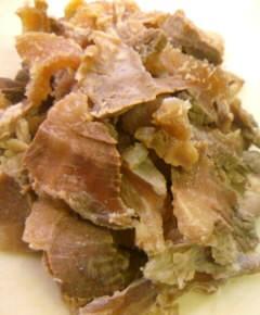 牛すじ肉の牛丼6