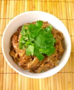 牛すじ肉の牛丼16