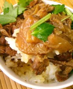 牛すじ肉の牛丼19