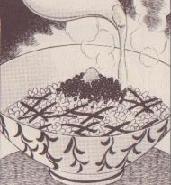 キャビアのお茶漬け図