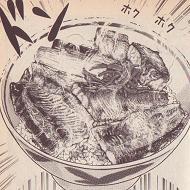 サンマの蒲焼き丼図