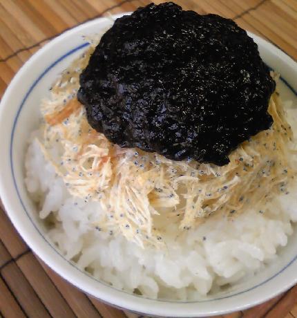 たたみ鰯と海苔の佃煮ご飯10