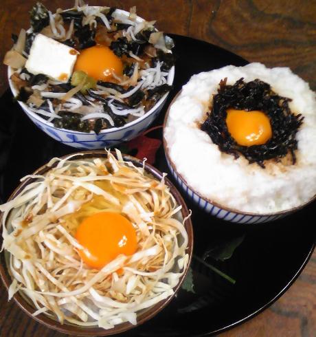 卵ご飯三種16